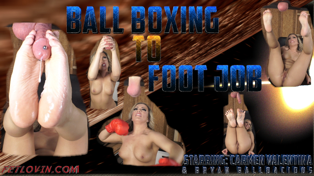 Ball Boxing to Foot Job