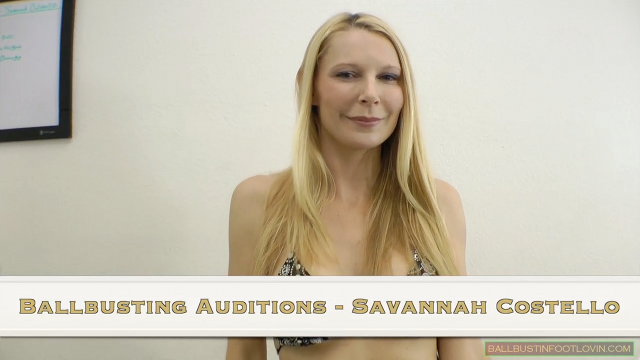 Ballbusting Auditions - Savannah Costello
