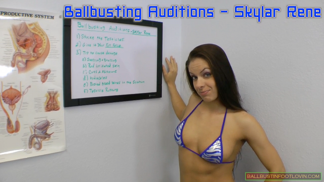 Ballbusting Auditions - Skylar Rene