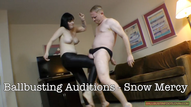 Ballbusting Auditions - Snow Mercy