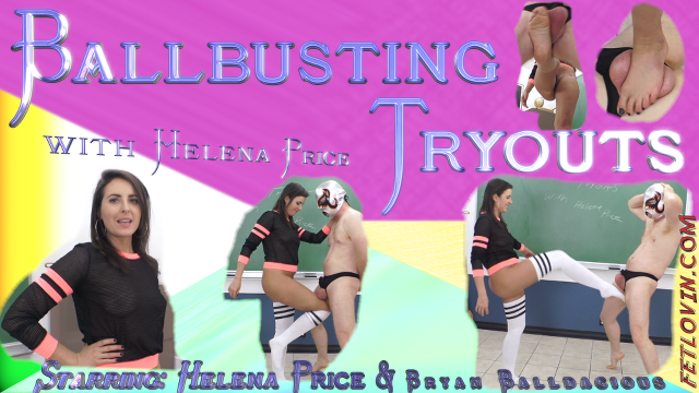 Ballbusting Tryouts with Helena Price