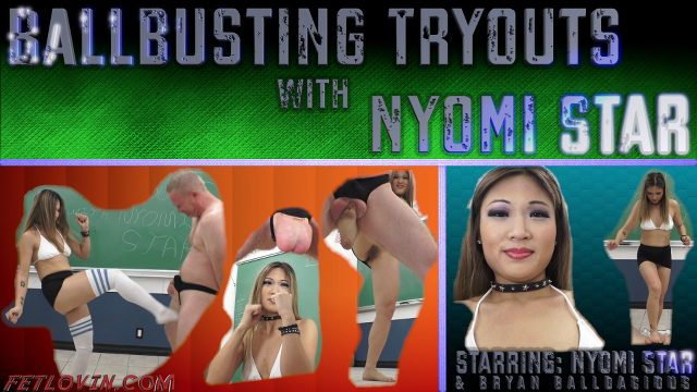 Ballbusting Tryouts with Nyomi Star