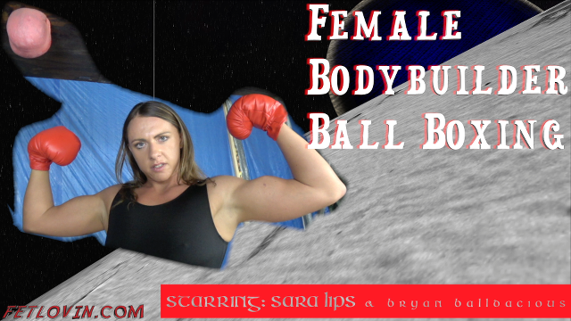 Female Bodybuilder Ball Boxing