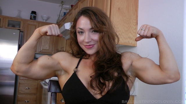 Muscle femdom lift carry