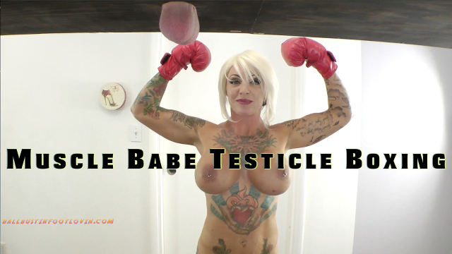 Muscle Babe Testicle Boxing