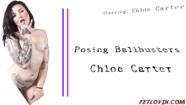 Posing Ballbusters - Chloe Carter