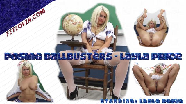 Posing Ballbusters - Layla Price