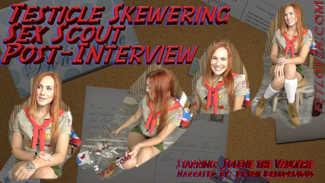 Testicle Skewering Sex Scout Post-Interview