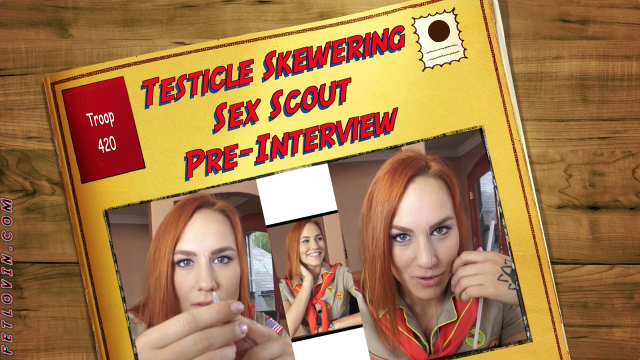 Testicle Skewering Sex Scout Pre-Interview