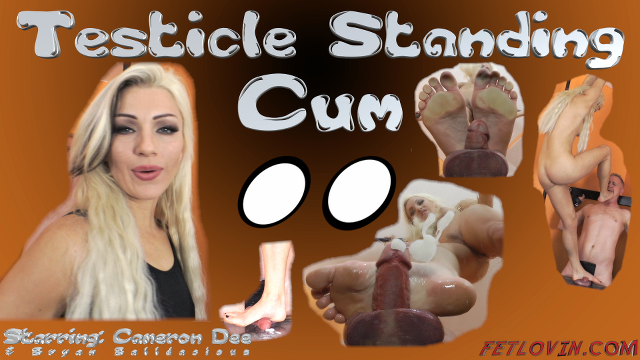 Testicle Standing Cum