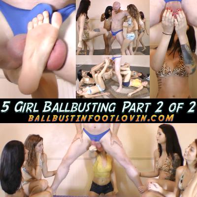 5 Girl Ballbusting – Part 2 of 2