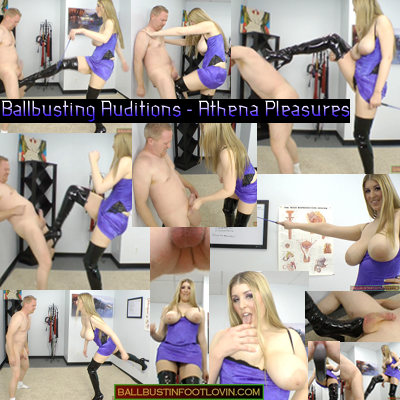 Ballbusting Auditions – Athena Pleasures