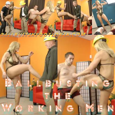Ballbusting the Working Men