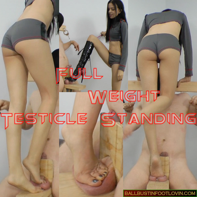 Full Weight Testicle Standing