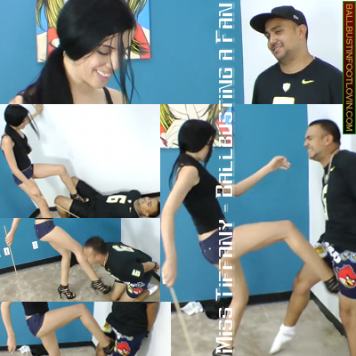 Miss Tiffany – Ballbusting a Fan