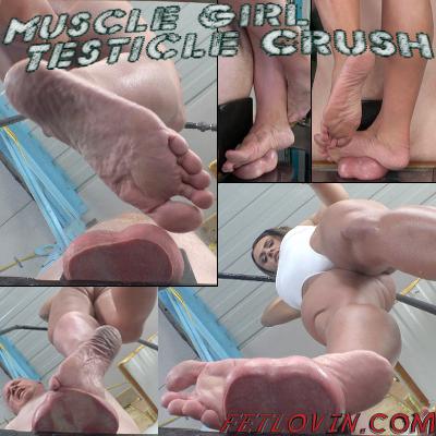 Muscle Girl Testicle Crush